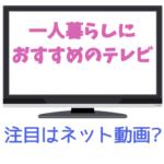 【一人暮らし用のテレビ】一人で使うテレビってどんなのがいいの? ユーチューブみたいんだけど?
